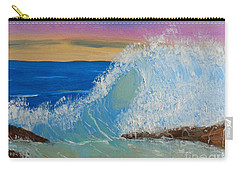 Wave At Sunrise Carry-all Pouch