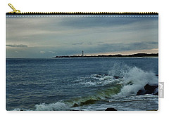 Wave Crashing At Cape May Cove Carry-all Pouch by Ed Sweeney