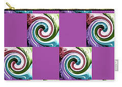 Carry-all Pouch featuring the digital art Wave Of Purple 2 by Ann Calvo