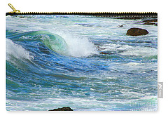 Carry-all Pouch featuring the photograph Wave To Me by Mariarosa Rockefeller