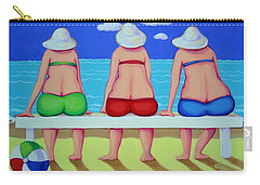 Wave Watch - Beach Carry-all Pouch by Rebecca Korpita