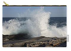 Waves Crashing On Rocky Maine Coast Carry-all Pouch