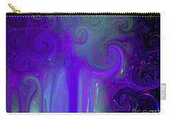 Waves Of Violet - Abstract Carry-all Pouch by Susan Carella