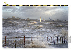 Waves On The Slipway Carry-all Pouch by Spikey Mouse Photography