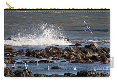 Waves Wind And Whitecaps Carry-all Pouch by John Telfer