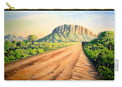 Carry-all Pouch featuring the painting Way To Maralal by Anthony Mwangi