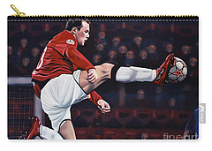 Wayne Rooney Carry-all Pouch by Paul Meijering