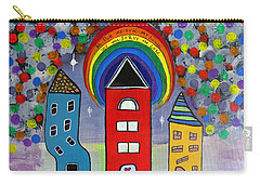 We Choose To Serve - Original Whimsical Folk Art Painting Carry-all Pouch