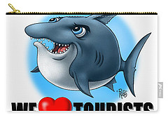 We Love Tourists Shark Carry-all Pouch