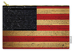 We The People - The Us Constitution With Flag - Square Carry-all Pouch