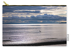 Carry-all Pouch featuring the photograph Weather Water Waves by Jordan Blackstone