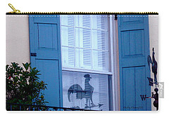 Carry-all Pouch featuring the photograph Charleston Weathervane Reflection by Kathy Barney