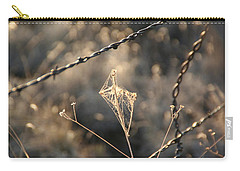 Carry-all Pouch featuring the photograph web by David S Reynolds