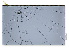 Carry-all Pouch featuring the photograph Web Fractal by Jani Freimann