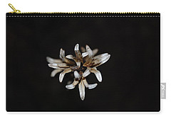 Carry-all Pouch featuring the photograph Weed On Black by Mim White