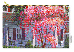 Weeping Cherry By The Veranda Carry-all Pouch by Susan Savad