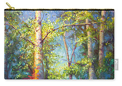 Welcome Home - Birch And Aspen Trees Carry-all Pouch