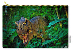 Welcome To My Park Tyrannosaurus Rex Carry-all Pouch by Olga Hamilton