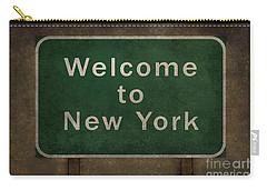 Welcome To New York Highway Road Side Sign Carry-all Pouch