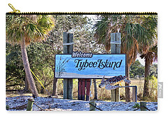 Welcome To Tybee Carry-all Pouch by Gordon Elwell