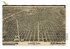 Wellge's Birdseye Map Of Denver Colorado - 1889 Carry-all Pouch by Eric Glaser