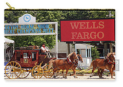 Carry-all Pouch featuring the photograph Wells Fargo At Devon by Alice Gipson