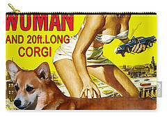 Welsh Corgi Pembroke Art Canvas Print - Attack Of The 50ft Woman Movie Poster Carry-all Pouch