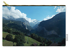 Wengen View Of The Alps Carry-all Pouch