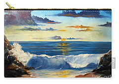Carry-all Pouch featuring the painting West Coast Sunset by Lee Piper