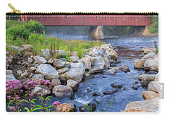 West Cornwall Covered Bridge Square Carry-all Pouch
