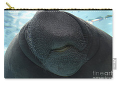 West Indian Manatee Smile Carry-all Pouch by Meg Rousher