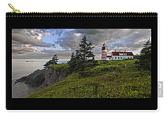 West Quoddy Head Lighthouse Panorama Carry-all Pouch by Marty Saccone