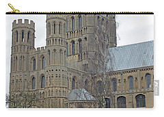 West Tower Of Ely Cathedral  Carry-all Pouch by Tony Murtagh