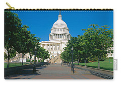 West View Of Us Capitol Building Carry-all Pouch by Panoramic Images