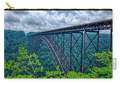 Carry-all Pouch featuring the photograph West Virginia New River Gorge Bridge Carrying Us 19 Over The G by Alex Grichenko