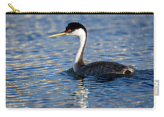 Carry-all Pouch featuring the photograph Western Grebe by Jack Bell