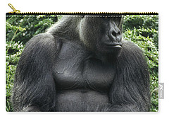 Western Lowland Gorilla Male Carry-all Pouch by Konrad Wothe