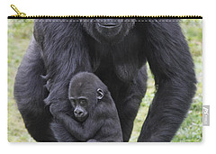 Western Lowland Gorilla Walking Carry-all Pouch by Duncan Usher