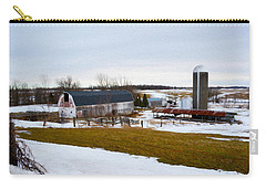 Western New York Farm As An Oil Painting Carry-all Pouch