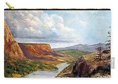Carry-all Pouch featuring the painting Western River Canyon by Lee Piper