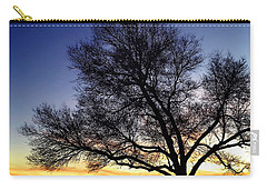 Carry-all Pouch featuring the photograph Western Sunset by Marilyn Hunt