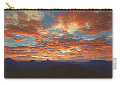 Carry-all Pouch featuring the digital art Western Sunset by Mark Greenberg