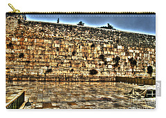 Carry-all Pouch featuring the photograph Western Wall In Israel by Doc Braham