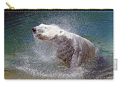 Wet Polar Bear Carry-all Pouch