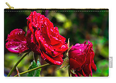 Carry-all Pouch featuring the photograph Wet Rose by Leif Sohlman