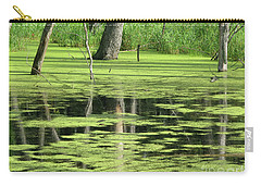 Carry-all Pouch featuring the photograph Wetland Reflection by Ann Horn