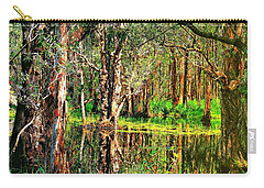 Carry-all Pouch featuring the photograph Wetland Reflections by Wallaroo Images