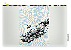 Whale On Wave Paper Carry-all Pouch
