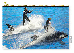 Carry-all Pouch featuring the photograph Whale Racing by David Nicholls