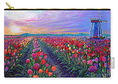 Tulip Fields, What Dreams May Come Carry-all Pouch by Jane Small